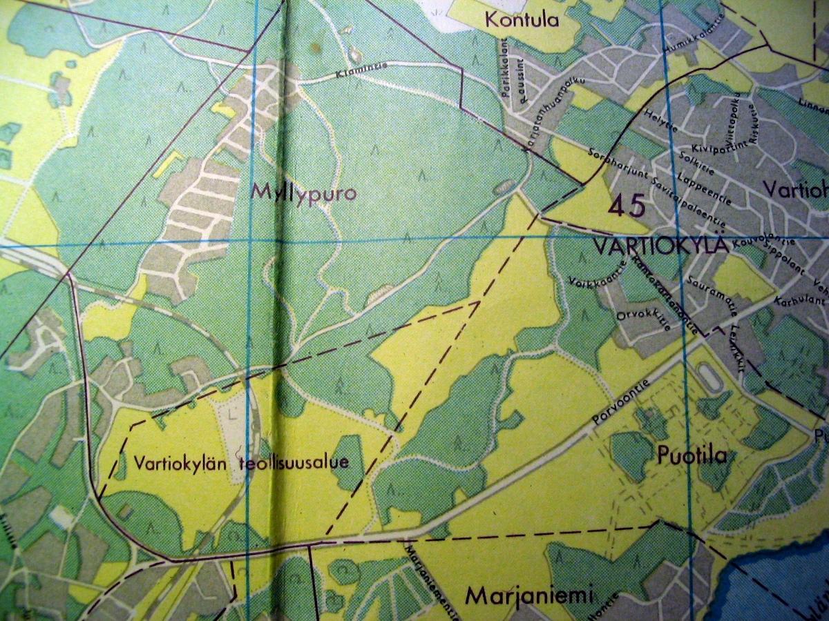 Pienen Tietosanakirjan kartta vuodelta 1960