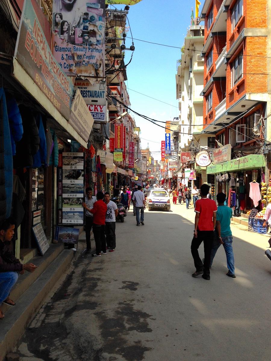 Kathmandun ostoskatuja