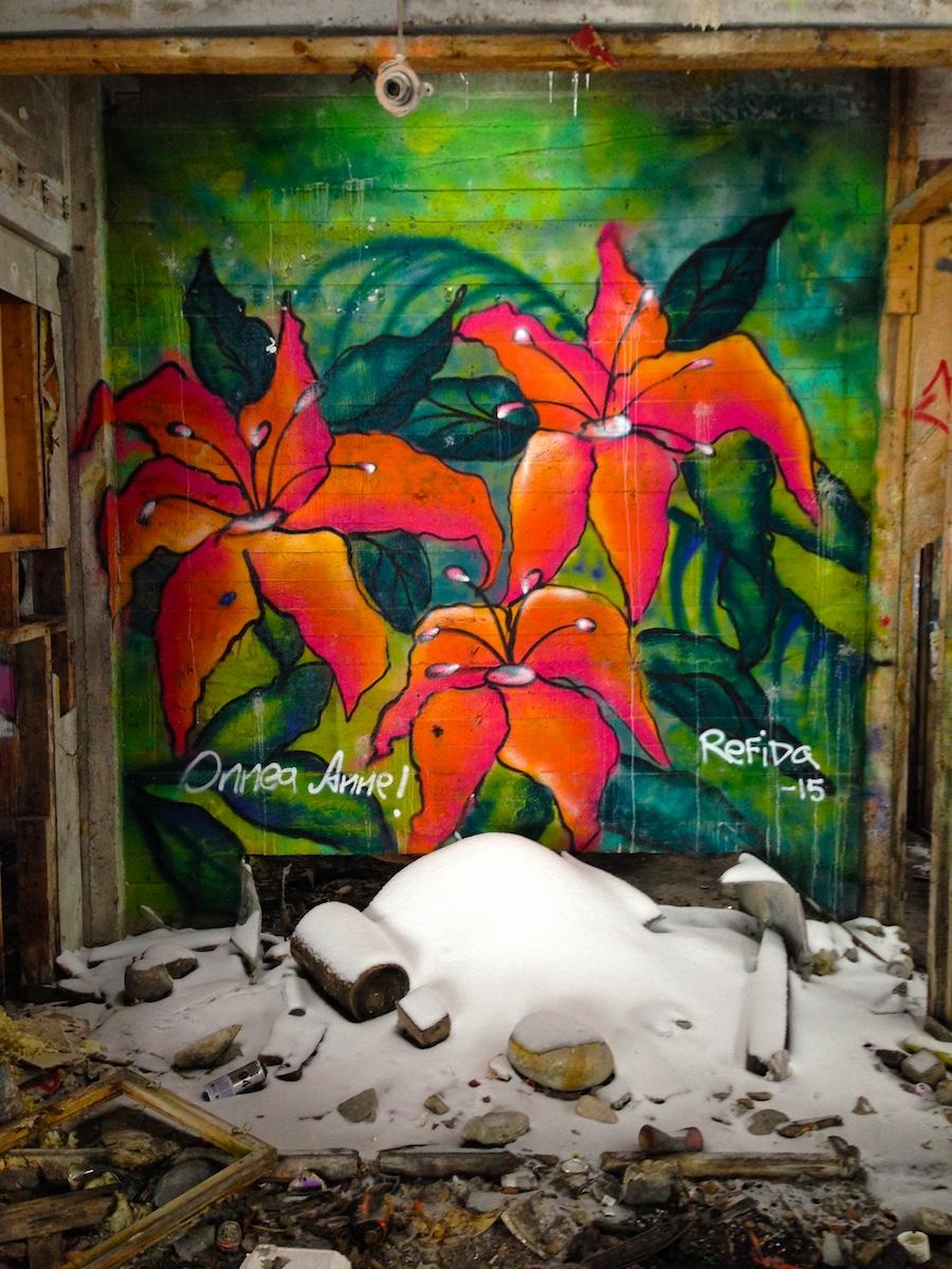 Kukkamaalaus ja lumikinos