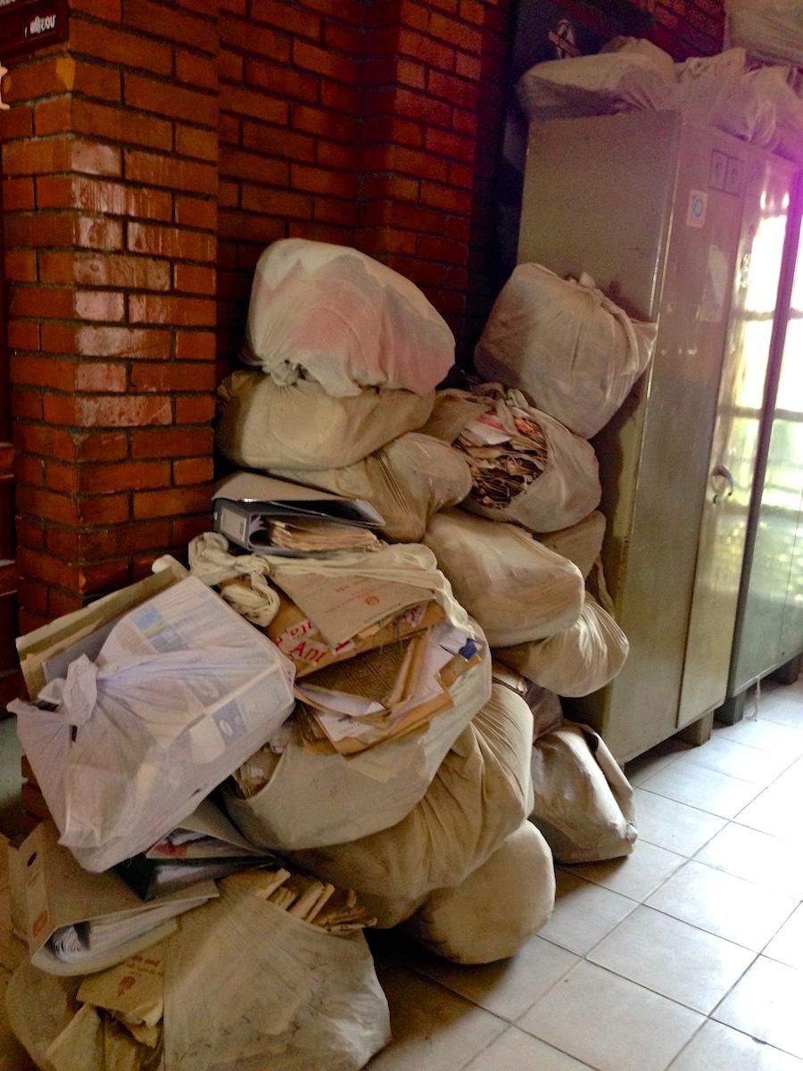 Matkailuministeriön arkistosäkit