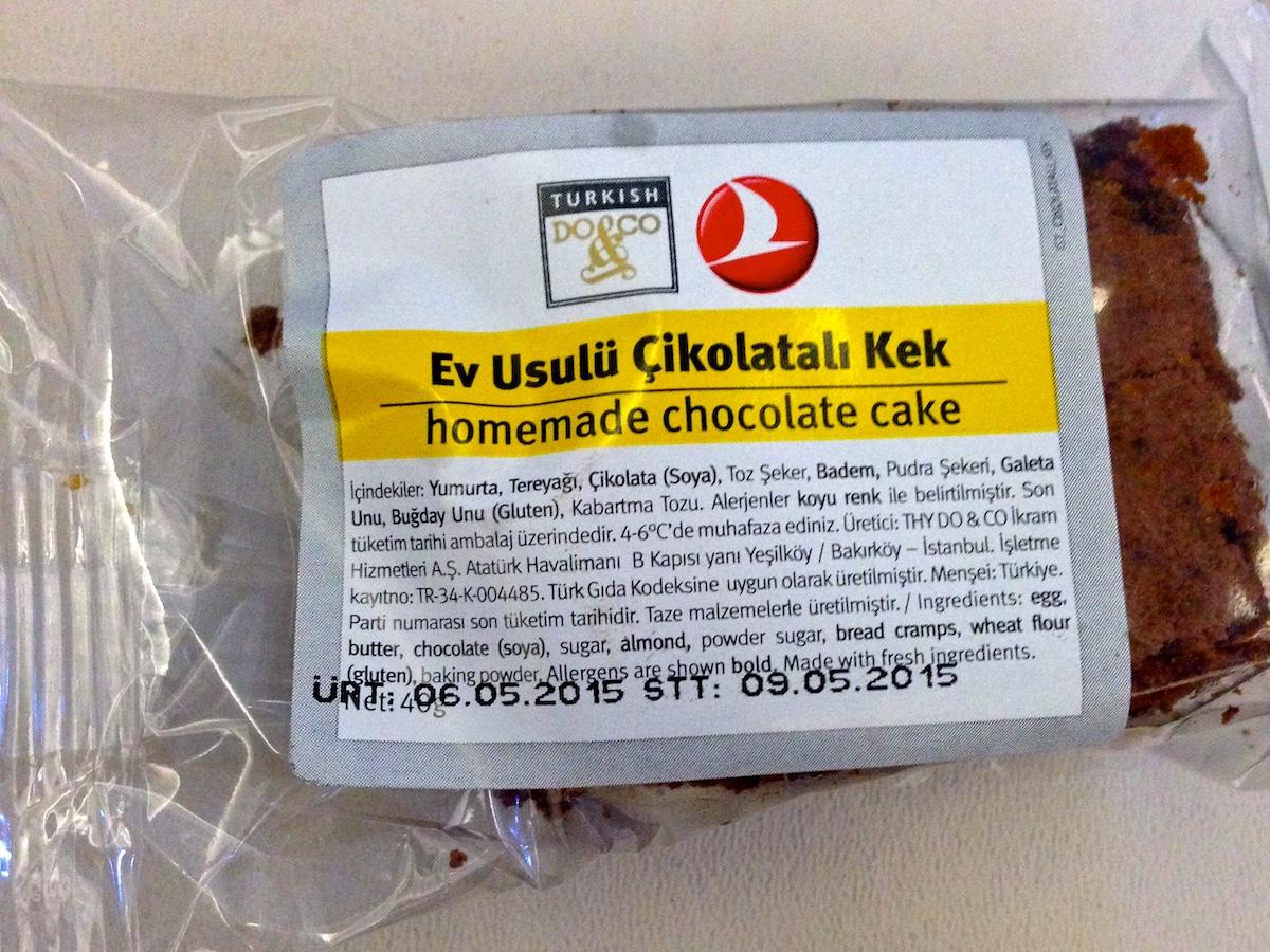 Turkin lentoyhtiön kotitekoinen kakku