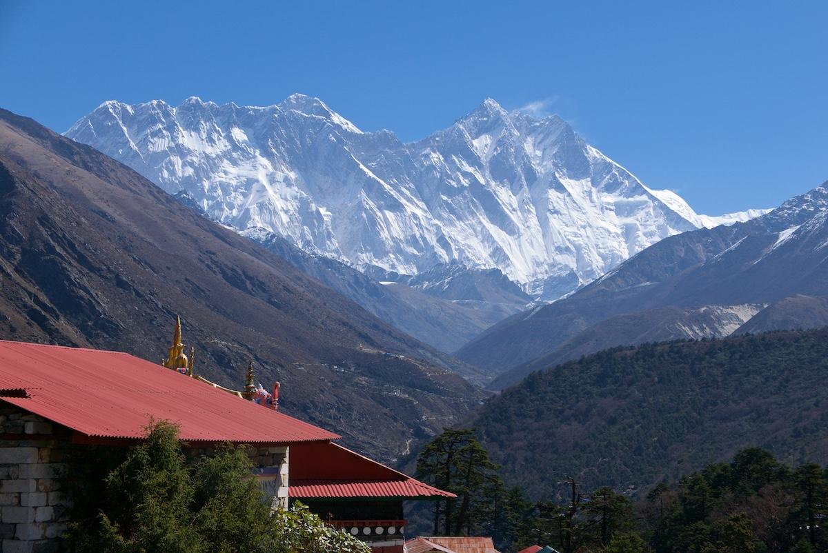 Lhotse ja Everest Tengbochesta